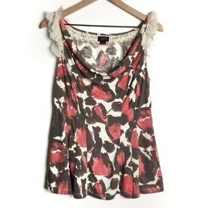 Anthropologie Deletta Painted Floral Camisole D378